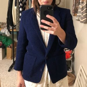 Vintage royal blue wool blazer
